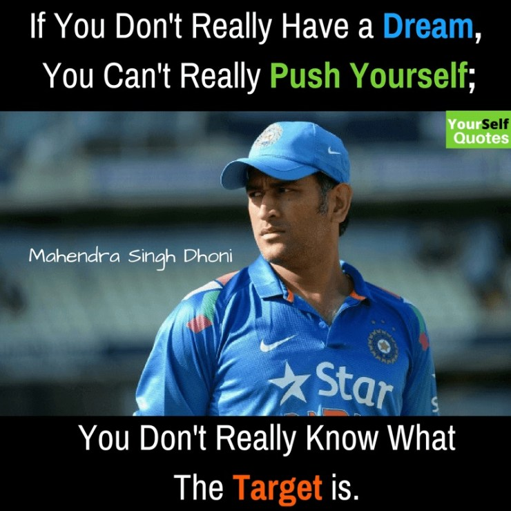 MS Dhoni Quotes Pictures