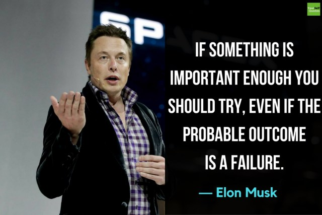 Elon Musk Quotes on Failure