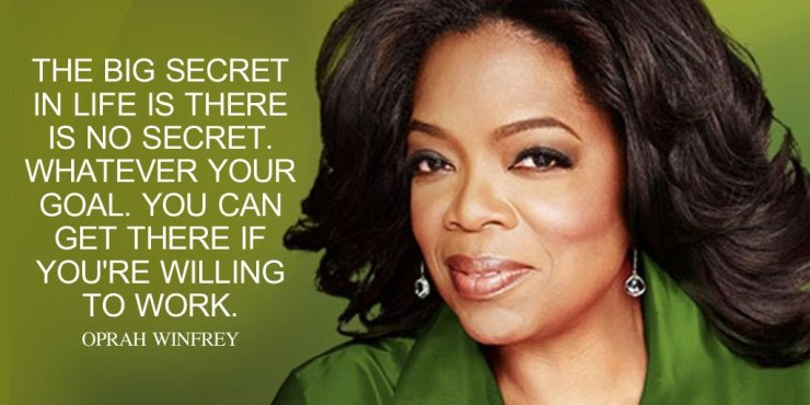 Oprah Winfrey Quote Images on work