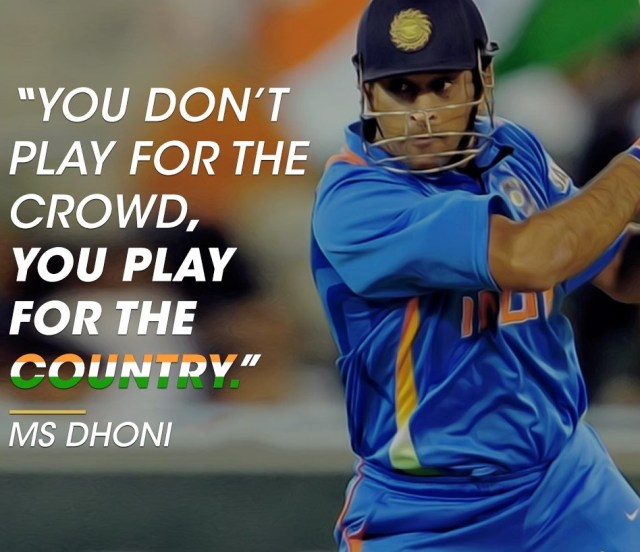 images of MS Dhoni Quotes