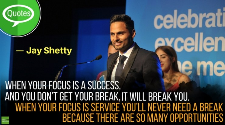 Jay Shetty Quotes on Success Focus