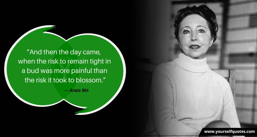 Risk Quote by Anais Nin