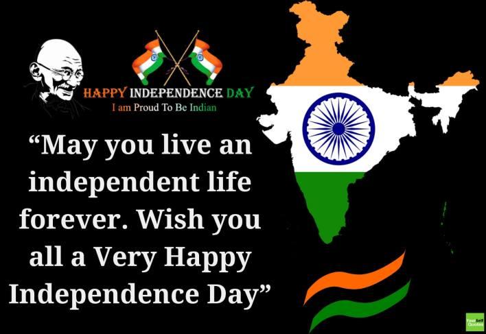 आपणा सर्वांना स्वातंत्र्य दिनाच्या हार्दिक शुभेच्छा