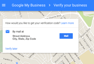 verify your business on Google My Business