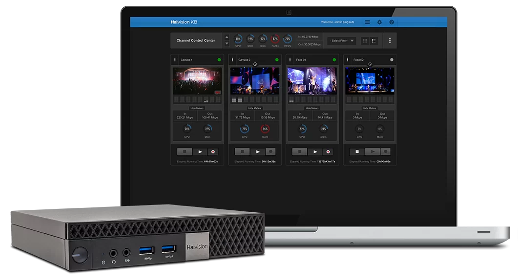 KB mini streaming encoder interface screenshot