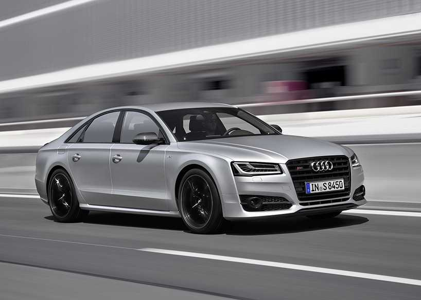 Audi S8 Plus is a Sporty Full-Bodied Sedan that Competes with the Ferrari F40