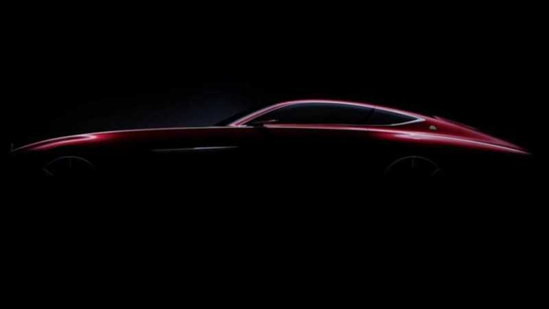 Mercedes Teases Maybach Coupe With Silhouette Image