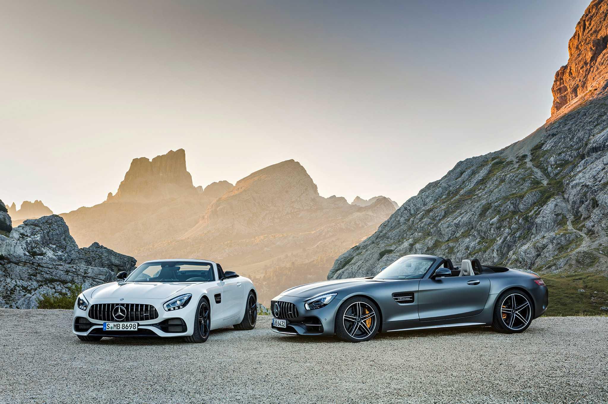 Mercedes AMG GT C, GT Roadster Photos, Specs Revealed Ahead of Paris Show