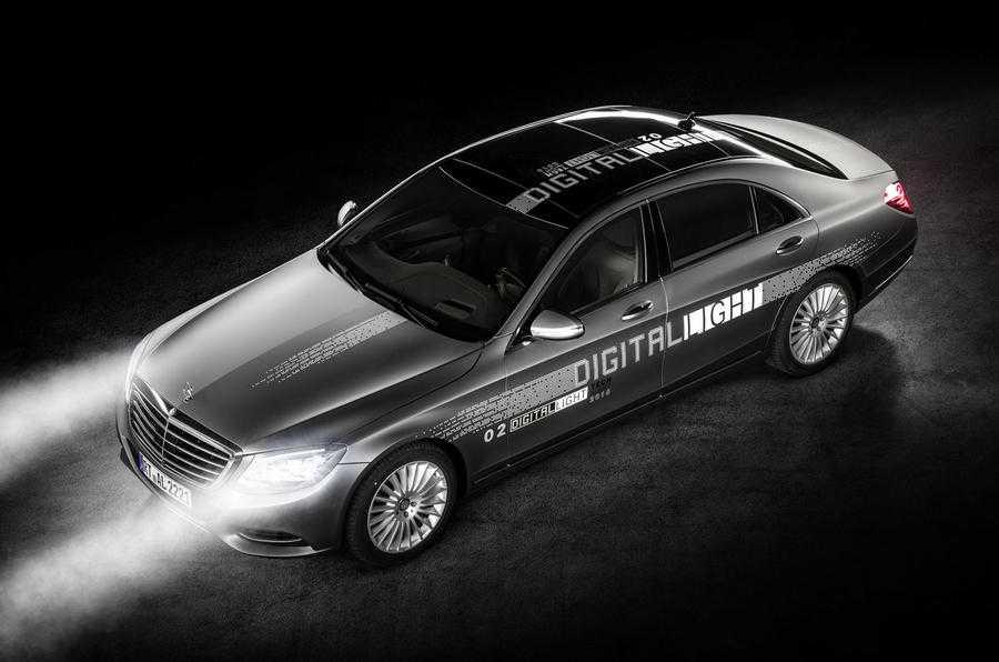 Future Mercedes Cars to Get Digital Light Headlight Technology