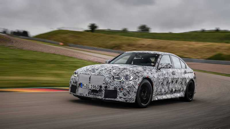 2021 G80 BMW M3 Spy Shots Reveal Huge Kidney Grille and Headlights