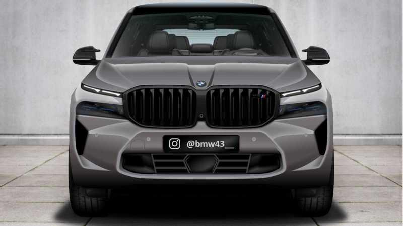BMW X8 M rendering