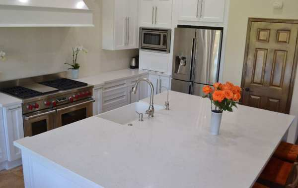 kitchen remodel white countertops and cabinets