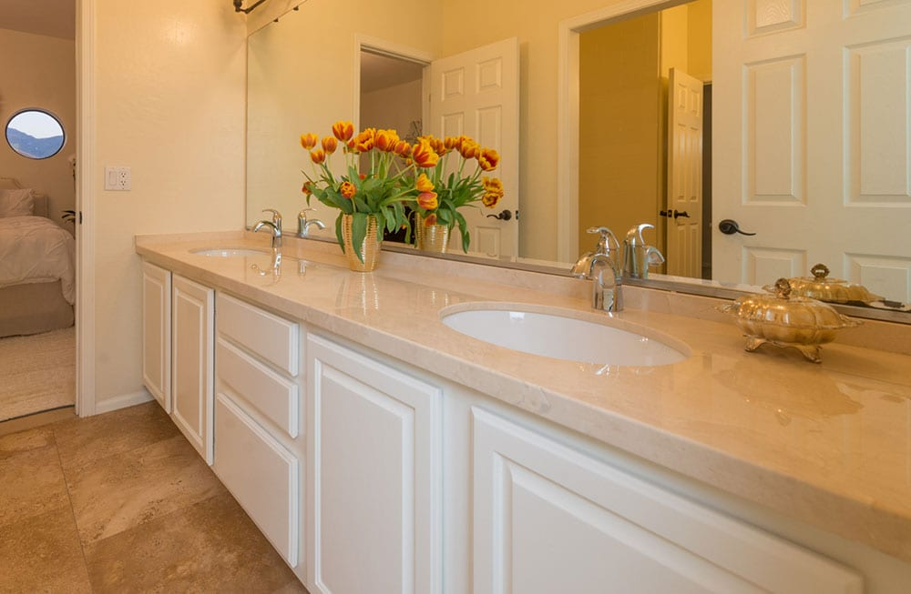 bathroom sinks and countertops