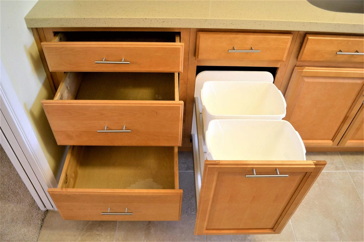 new drawers in kitchen