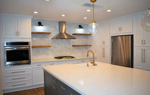 Remodeled kitchen island