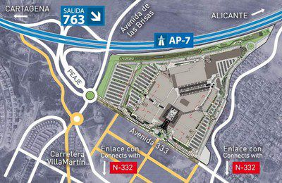 How to get to La Zenia Boulevard Shopping Centre. Ap-7 and taking exit 763