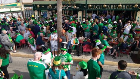 St Patrick's day Cabo Roig