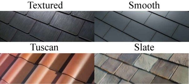 tesla solar roof types
