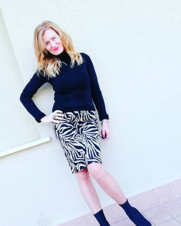street style with animal print skirt