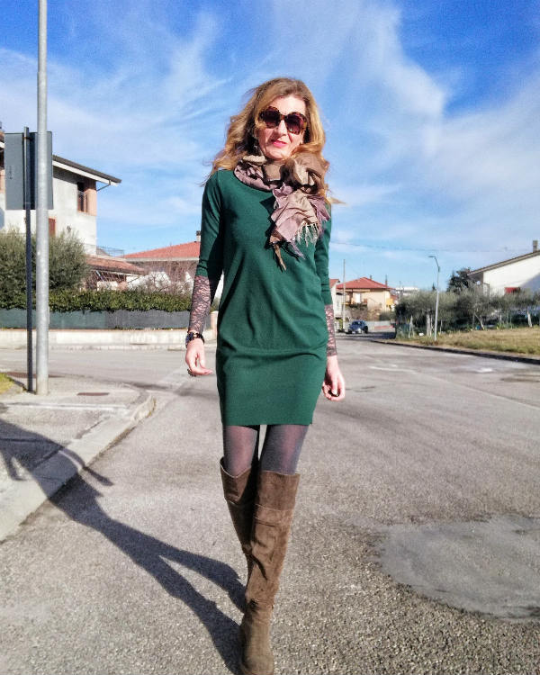 abito verde corto