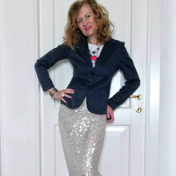 sequin skir and blazer