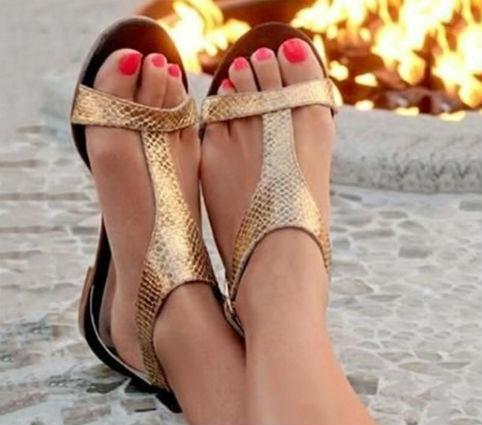 sandalo basso metallizzato