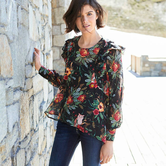 Pepe Jeans floral blouse 53,95 Euros (it was 75,12 Euros), on La Redoute Fr websilte