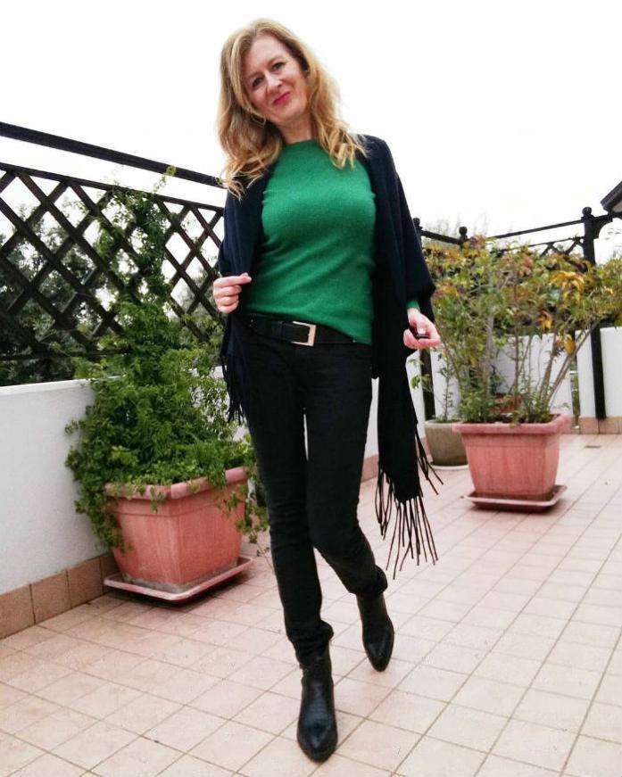 look verde e nero