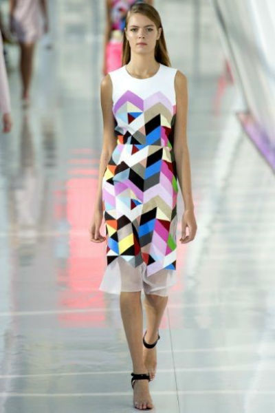 geometric print dress Preen by Thornton Bregazzi, Pinterest