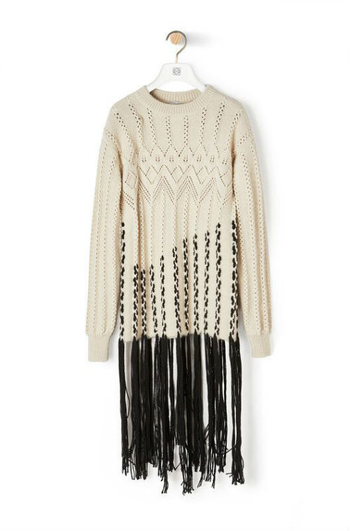 maglione con lunghe frange, Pinterest