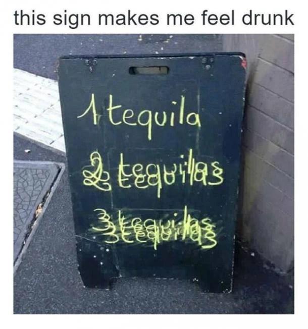 One Tequila Too Tekeela Flee Tikla Floor Cheezburger Funny