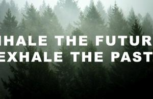 healing breakup quotes: inhale the future, exhale the past