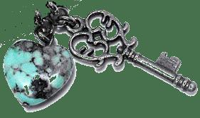 Key-HeartTurq1Silver