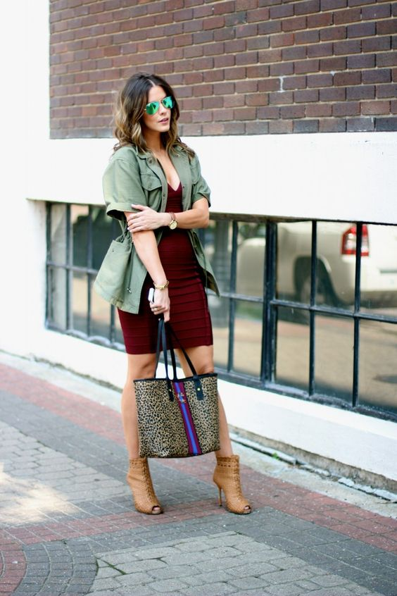 army-green-and-burgundy