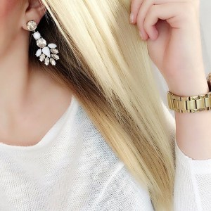 earrings and watch