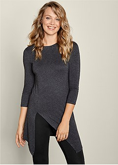 casual slit top