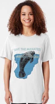 Save the Manatees t-shirt