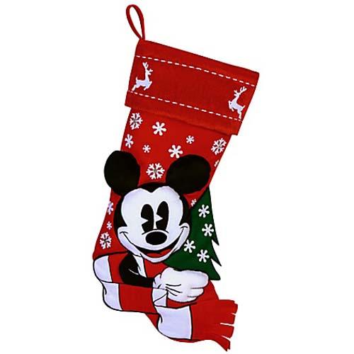 Disney Christmas Holiday Stocking Nostalgic Red And