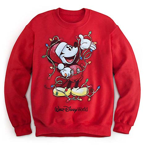 Your WDW Store Disney ADULT Sweatshirt Santa Mickey