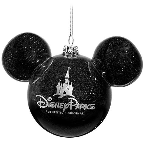 Disney Christmas Ornament Mickey Mouse Ears Ball Black