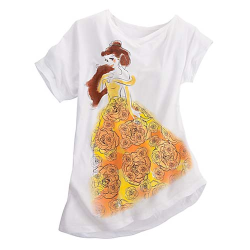 Disney WOMENS Shirt Dolman Sleeve Belle Tee