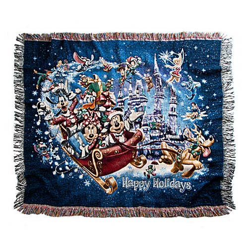 Disney Throw Blanket Holiday Mickey Mouse And Friends In