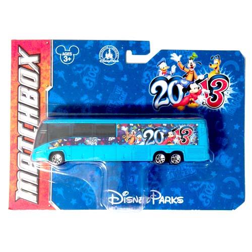 Disney Matchbox Die Cast Bus 2013 Disney Theme Parks
