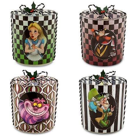 Disney Candle Holder Set Alice In Wonderland