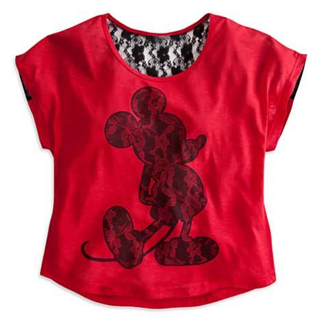 Your WDW Store Disney LADIES Shirt Mickey Mouse Red