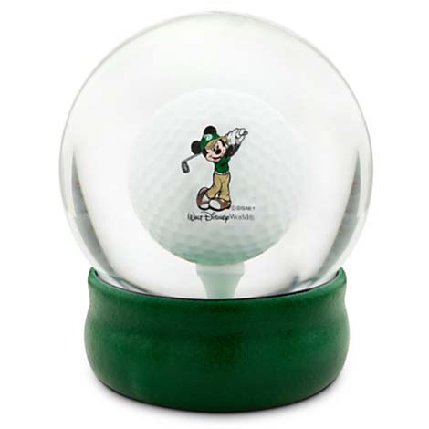 Your WDW Store Disney Snow Globe Mickey Mouse Golf