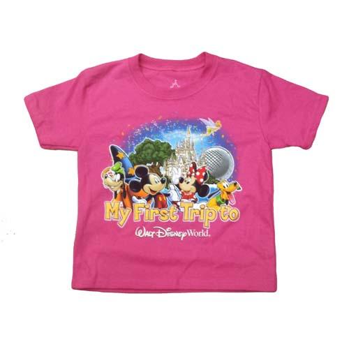 Disney Toddler Tee First Trip Pink