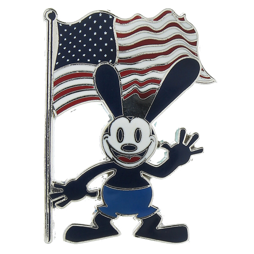 Disney Oswald Pin Oswald The Lucky Rabbit With USA Flag