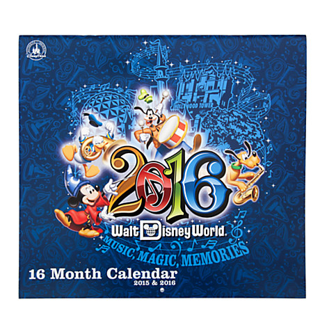 Disney Calendar 2015 To 2016 Walt Disney World 16 Month