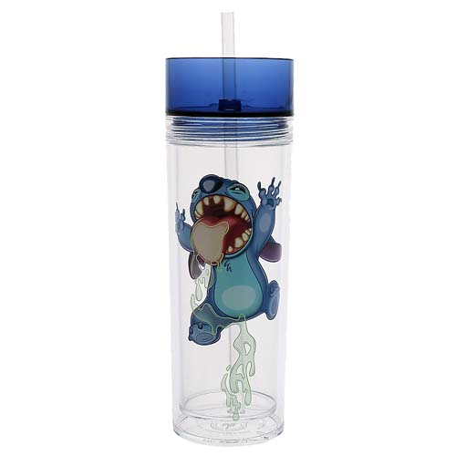Disney Water Bottle Stitch Trapped Inside Tumbler With Straw